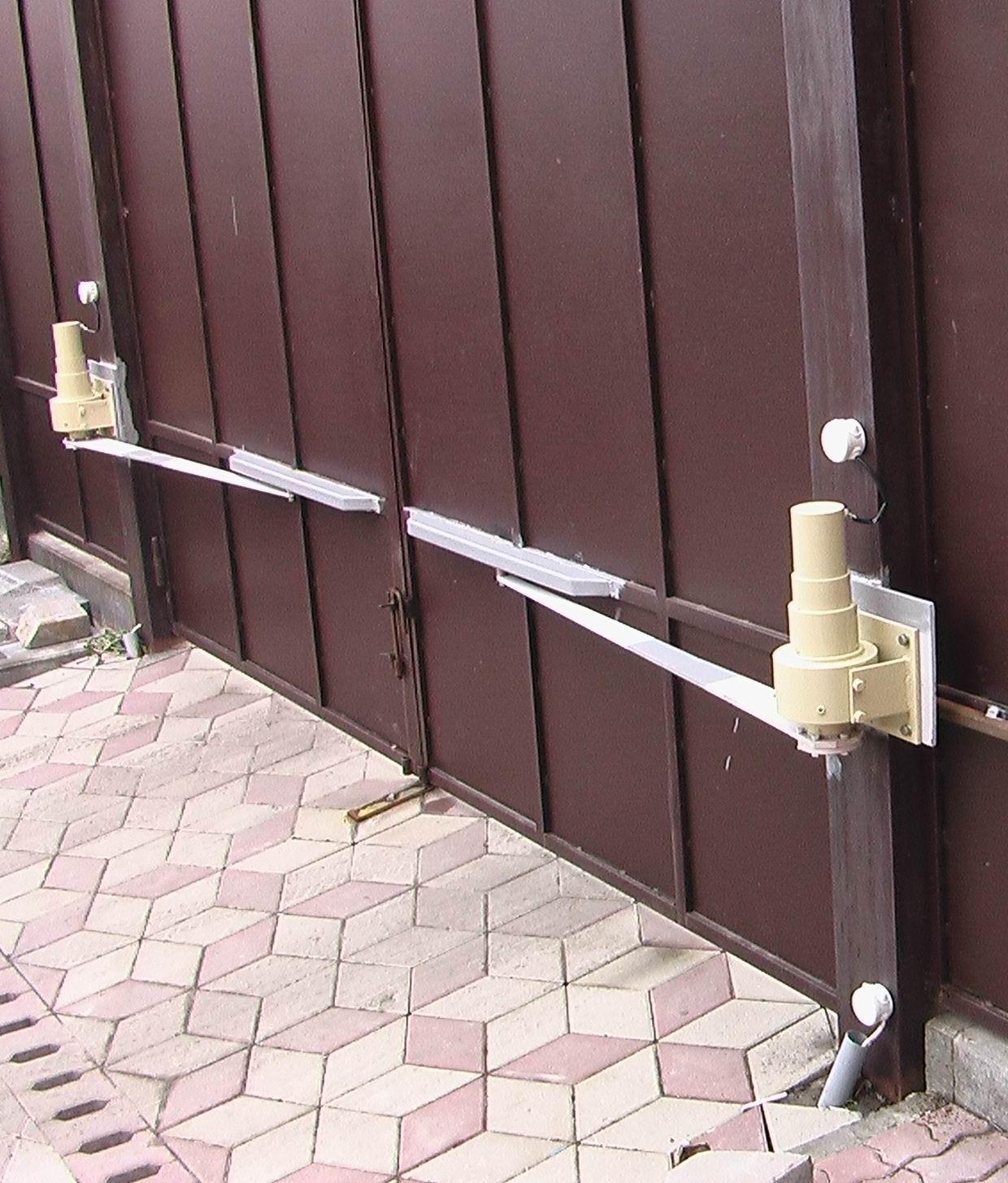 Механизм для открывания откатных ворот своими руками