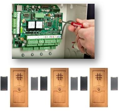 Контроллер + плата расширения на 2 двери