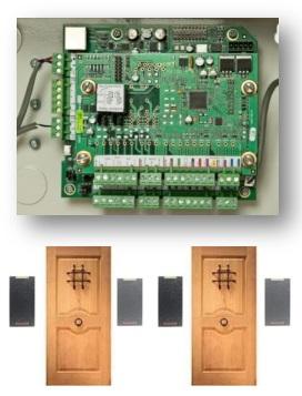 Контроллер + плата расширения на 1 дверь